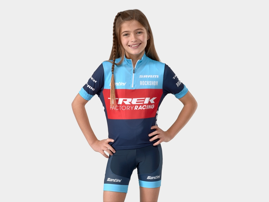 Short Santini Trek Factory Racing XC Replica Youth M BL/BL